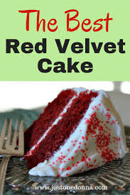 red velvet cake just one donna
