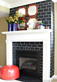 Chalkboard Kitchen Backsplash Chalkboard Brick Fireplace Makeover Our Fifth House