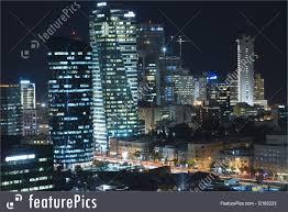 picture of the tel aviv skyline night city