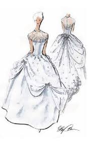 oleg cassini ball gown design featuring a statement ribbon