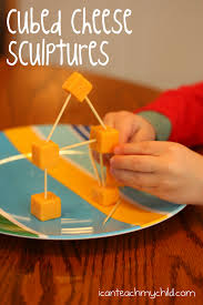 cubed cheese sculptures i can teach my child