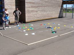 remote control car obstacle course activity for a carnival