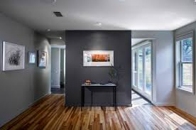 open place interior using divider room and best gray paint color