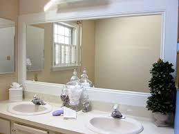 Mirror Framed Mirror Bathroom White Framed Bathroom Mirror Bathroom Cintascorner Custom White