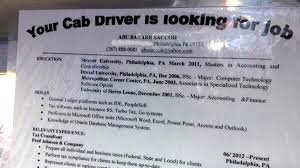 Taxi Driver Resume Your Cab Driver Is Looking For A Job Nbc 10 Philadelphia