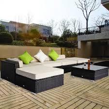 canapé d angle de jardin salon de jardin canape d angle resine tresse poly rotin brun 18 pcs