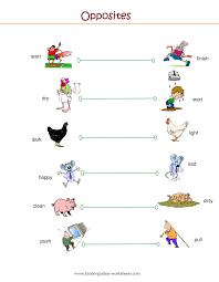 kindergarten worksheets kindergarten worksheets opposite words