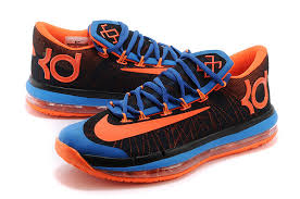 nike kd 6 vi elite black royal blue team orange cheap for sale