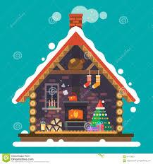 house of santa claus stock vector image 54713243