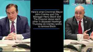 And City Mayor Cranley And City Manager Harry Black Discuss Their Feud