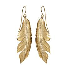 feather earrings feather earrings big pavé manon jewelry