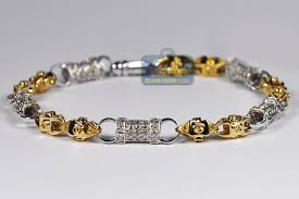 gold tone tennis bracelet images Mens canary diamond bracelet 14k two tone gold 4 46 ct 7mm 9 quot jpg