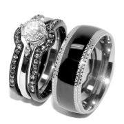 stainless steel wedding ring sets stainless steel rings
