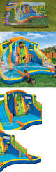 water slides 145992 banzai inflatable adventure club dual slide