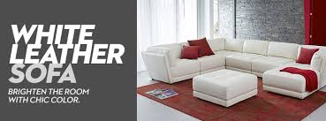 terrific white sofa leather modern off white leather sectional