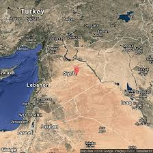 Damascus Syria Map Major Landforms Of Syria Usa Today