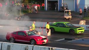 Dodge Challenger Modified - 1000 race hellcat challenger vs 650 shelby gt500 modified 650 hp