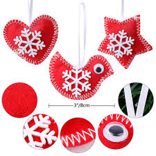 ourwarm 3pcs tree hanging ornaments new year