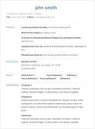 beautiful resume format in word free download resume template