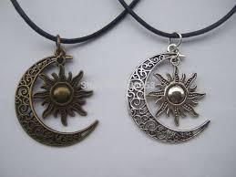 wholesale wholesale fashion crescent moon and sun charm pendant