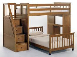 Wooden Bunk Bed With Stairs Furniture Breathtaking Space Loft Bed With Stairs For Bedroom