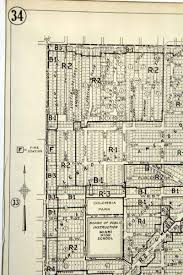 City Of Miami Zoning Map by 1952 Downtown Miami Vintage Zoning Map Olde Good Things