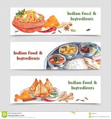 indian food banners set stock vector image 56998741