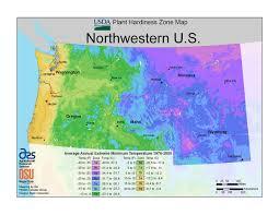 Map Of Northwest Us Usda Plant Hardiness Zone Maps At Lots Of Plants Com
