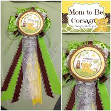Mom To Be Corsage Baby Lion King Shower And Mini Diaper Cake Table Decoration Tutorial