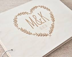 Personalized Wedding Albums Book Custom Wood Wedding Guest Book Wedding Album Laser Engraved