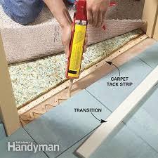 Installing Floor Tile Tile To Carpet Transition Concrete Floor Carpet Nrtradiant