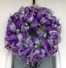 Deco Mesh Halloween Wreath Ideas by Purple Wreath Diy Wedding Ideas Pinterest Wreaths Purple