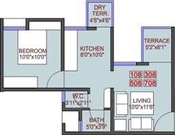550 Square Feet Floor Plan by 433 Sq Ft 1 Bhk 1t Apartment For Sale In Shreyas Happy Homes