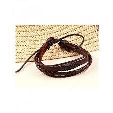 leather hand bracelet images Buy solo brown leather hand woven bracelet for men online at best jpg