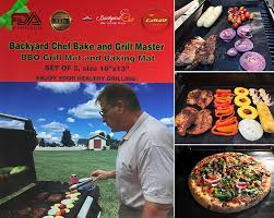 amazon com backyard chef bake and grill master grill mat baking