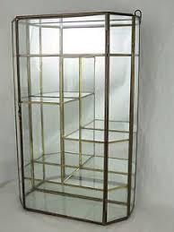Corner Glass Display Cabinet Ebay Geometric Glass Jewelry Display Case With Copper Finish My
