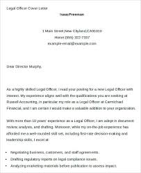 7 legal cover letters free sample example format download