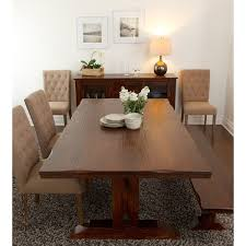 65 inch dining table armanda rustic brown wood 78 inch trestle dining table by kosas home