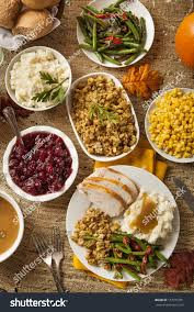 turkey thanksgiving pictures homemade turkey thanksgiving dinner mashed potatoes stock photo