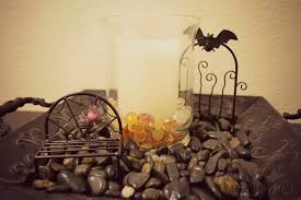 entry area diy fall halloween candle decoration enchanted pink
