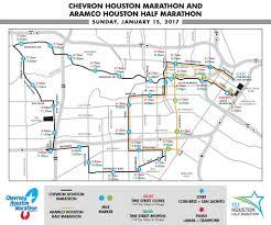 Metro Houston Map by Street Closures Chevron Houston Marathon