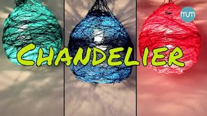 How To Make A Balloon Chandelier How To Make A Lamp Shade Chandelier Art And Craft Youtube