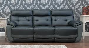 Black Fabric Sofa Reclining 3 2 Leather And Fabric Sofa Suite Available In Black And