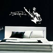 jimi hendrix large bedroom wall mural art sticker stencil giant jimi hendrix large bedroom wall mural art sticker stencil giant decal matt vinyl wall stickers diy vinyl decals in wall stickers from home garden on
