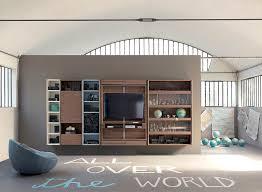 libreria tv libreria con porta tv librerie design by fimar