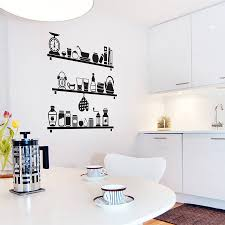 Kitchen Wall Decorating Ideas Do It Yourself Kitchen Wall Decals To Reduce The Money Usage Amazing Home Decor