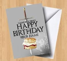 of thrones birthday card personalised of scones thrones birthday card ebay