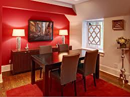 red fabric tablecloth red dining room ideas wooden varnished
