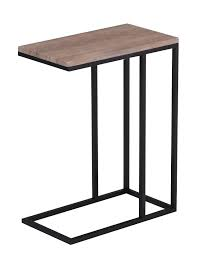 C Side Table Wood C Side Table Event Rentals