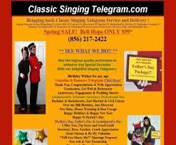 singing telegrams nj classic singing telegram wedding entertainment 809